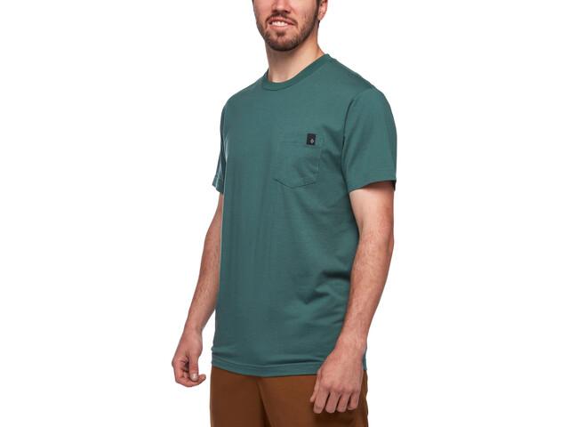 Black Diamond Crag T-shirt met Borstzak Heren, raging sea